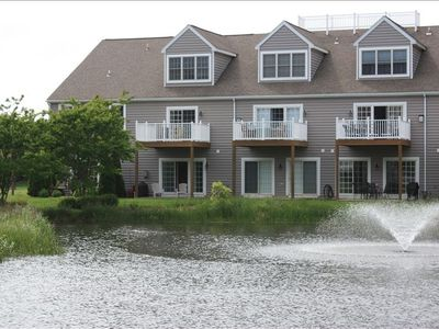 Photo for LUXARY TH, 2 Master Suites, Sleeps 10, Pool, East of Rt 1, Walk or Bike to Beach