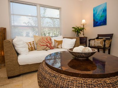 Photo for Island House: Modern suites w/ pool, tropical gardens & incredible water views