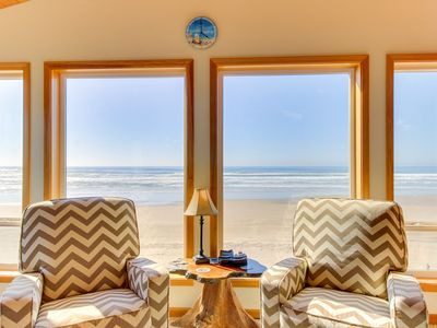 Photo for Charming oceanfront, dog-friendly house right on the beach!