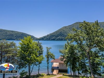 Photo for Pine Point - Privacy and Spectacular Lake and Mountain Views!