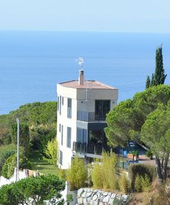 Photo for Beautiful house with splendid sea views and private pool of 36 m2