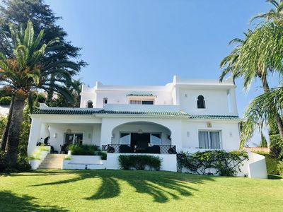 Photo for Villa with breathtaking sea and golf views, near Puerto Banus Marbella - Paraiso Alto