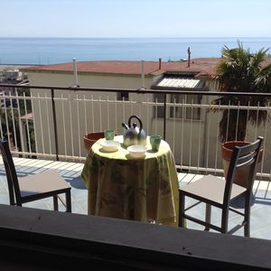 Photo for Comfortable apartment with terrace overlooking the sea, near the beach and the city center