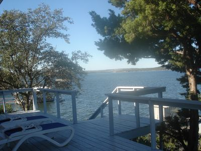 Photo for Dramatic Views with Boat House Directly on Possum Kingdom Lake