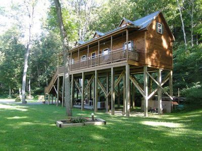 Photo for Gorgeous Built Cabin Overlooking The Shenandoah River