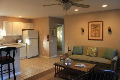 Open concept, cottage is 600 sq. ft.