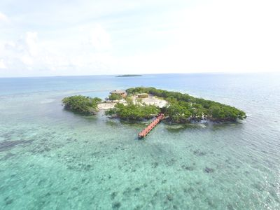 Photo for BELIZE PRIVATE ISLAND RENTAL WITH OVER WATER BUNGALOW