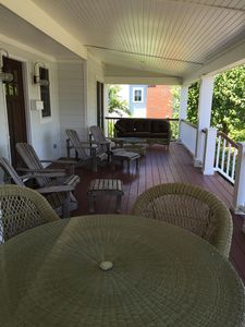 Front porch - relax after a day at the beach