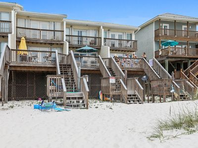 Photo for Rates discounted for Fall;Gulf Front -Townhouse; large deck overlooking the Gulf