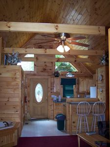 Beautiful knotty pine throughout!