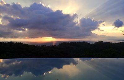 Sunset over Pacific Ocean from Shangri La.  Magical!
