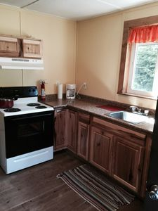 Kitchen with full size stove