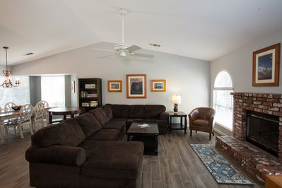 Comfortable sectional with seating for 8.