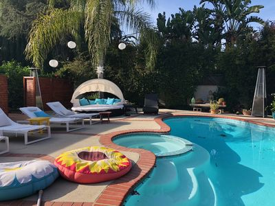 Soak up the sunshine in your private pool side garden or jacuzzi under stars...