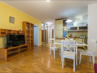 Photo for Stegny 2 apartment in Mokotów with WiFi, balcony & lift.