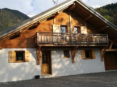 Photo for Chalet wood comfortable, independent, quiet, with beautiful views of Mont Blanc