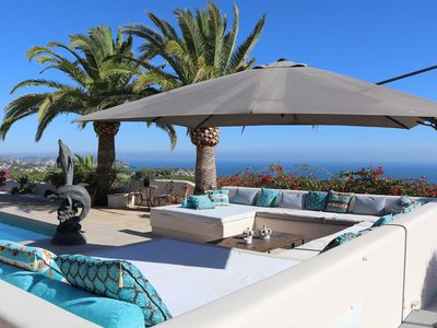 Photo for Luxury Villa with panoramic sea view, private pool, parking and free wifi