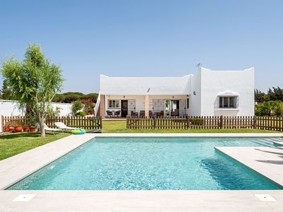 Photo for Beautiful Home Short Drive from Beach with Pool, Terraces & Large Garden; Parking Available