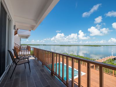 Photo for A2 Fabulous lagoon view, communal pool, close to truck stop, extended stay