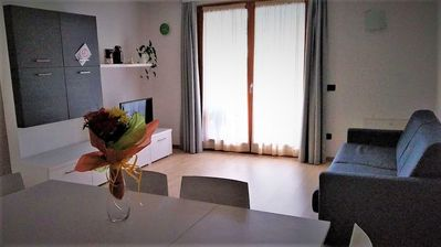 Photo for Cozy Apartment Presanella 2 with Mountain View & Terrace; Parking Available; Pets Allowed