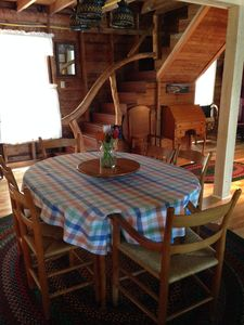Dining Room - table has two leaves (one shown).  Seats 8 fully extended.