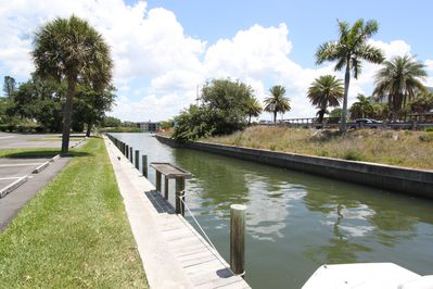 Canal with boat docking