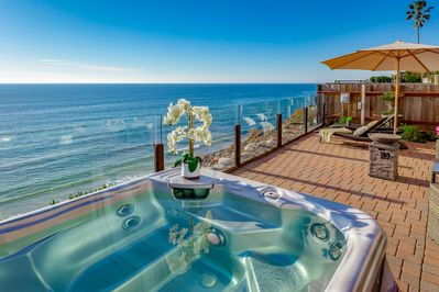 Soak in the Hot Tub and Relax by the Sea
