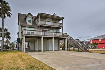Fall in love with Galveston at this 4-bedroom, 3-bath vacation rental home!