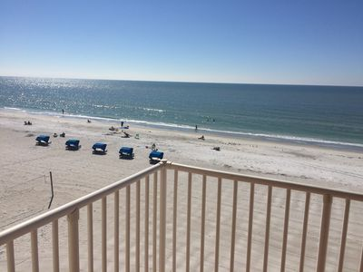 Photo for Newly Remodeled Direct Beachfront Corner Unit Condo with endless Gulf Views