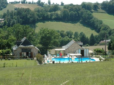 Photo for Cottage in La Vernhe cave with pool