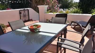 Photo for Stylish Garden Apartment,Large terrace-views to sea, mountains & tropical garden