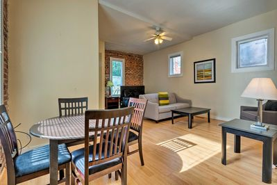 Enjoy the history of Richmond from this contemporary apartment!