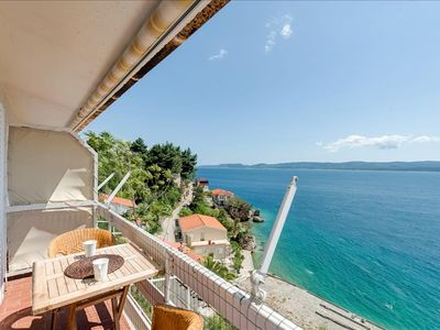 Photo for Studio - super location - top sea view - close to the beach