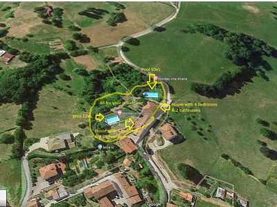 Photo for 2 houses with each own pool 60 kms northern Lucca. Quiet area