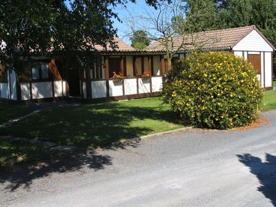 Photo for Chalets on a private property with swimming pool nearby the landings coast