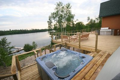 8 Person HotTub, 1,950 Square Ft Deck with Sitting Area, Grill, and Screen Porch