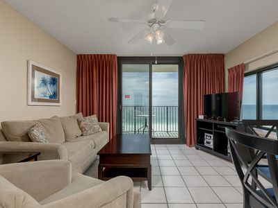 Photo for SUNSET VIEW! 5th Floor Hotel Suite on the BEACH! ~ Full Kitchen!