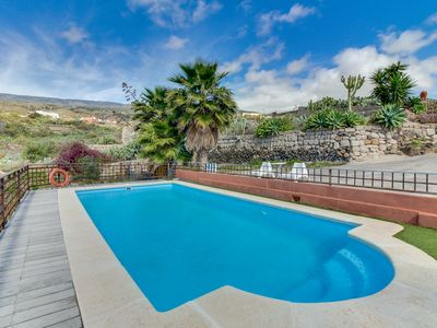 Photo for Secluded, dog-friendly villa with private pool, ocean & mountain views, patio