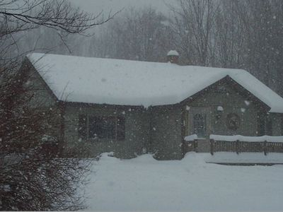 Photo for Excellent Location! Cozy cabin close to Snowmobile and Cross Country Ski Trails