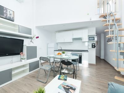 Photo for CENTRIC - Modern terraced house with beautiful terrace in Palma.