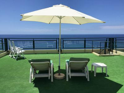Photo for Penthouse apartment overlooking Funchal's best beach – Formosa beach