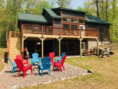 Photo for Brand New Lakeside Cabin, Perfect for Family Retreats!