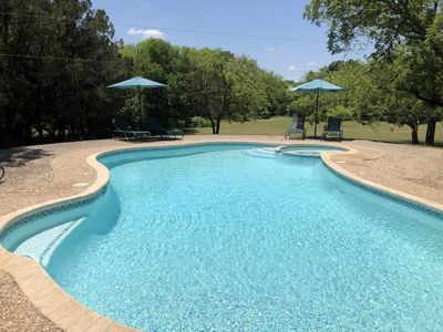 Photo for Your own Private Oasis, pool, hot tub, fire pit on 10 gorgeous acres
