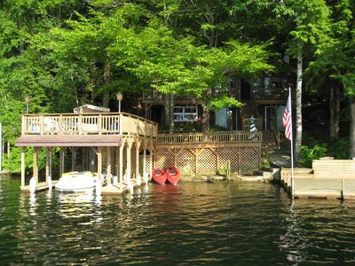 Photo for Adirondack Getaway Right On Lake Hadlock With Lake George only 12 Miles Away!
