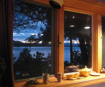 Photo for Lakefront breath taking Views, cozy star-lit, book filled