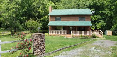 Front of Farm House with handicap ramp on side