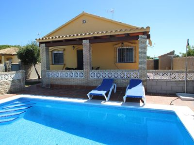 Photo for house with private pool, garden and barbecue, for 6 persons, at the pineforest, quiet surroundings, 5min to the beach, with free WiFi