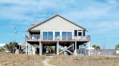 "Photo for Ready now - No storm issues! FREE BEACH GEAR! Beachfront, Pets OK, Pool, Screen Porch, Private Boardwalk, 4BR/3BA ""Seaesta"""