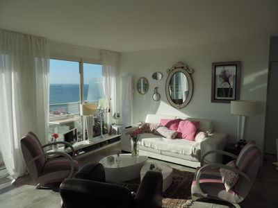 Photo for PANORAMIC and charming decor for this apartment 50 meters from the BEACH and full centrei