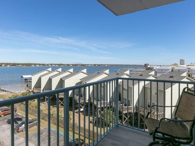 Photo for Condo w/ view of Little Lagoon, beach access & shared pools/hot tub/pier!